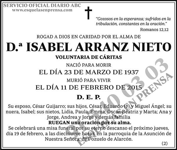 Isabel Arranz Nieto